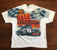 Vintage Dale Earnhardt JR Budweiser All over print Mens XL 90s
