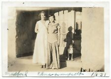 Pit Bull Vintage Photo Mother Daughter With White Chested Brindle Pit Bull