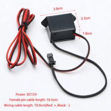 sale Mini DC12V 1-5M EL Wire Cable Neon Glow Strip Light Power Driver Inverter