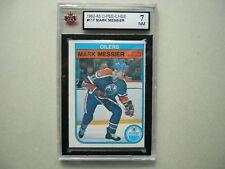 1982/83 O-PEE-CHEE NHL HOCKEY CARD #117 MARK MESSIER KSA 7 NM SHARP!! 82/83 OPC