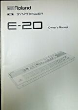 Roland E-20 Synthesizer Owners Manual