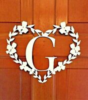 Wooden Monogram Initial Letter Door Sign Hanger Wood Letters Personalised Name