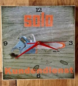 SOLO  Motorsäge - REX - Werkstattuhr/ Ladenuhr / Werbung