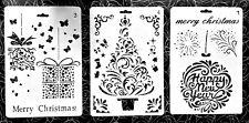 3 er Set Schablonen Nr. 47 Weihnachtsmotive Weihnachten Scrapbook/Mixed Media