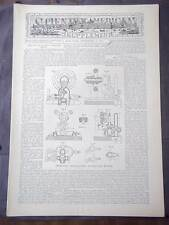 Vintage Scientific American Supp. September 17,1887 Improved Oscillating Motor