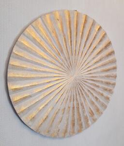 Hand Made Gold Wash Shabby Chic Wall Fan Wall Art 60cm