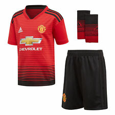 adidas Unisex Manchester United 18/19 Home Mini Replica Football Kit Red