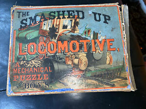 Milton Bradley's The Smashed Up Locomotive, 1800s Mechanical Puzzle for Boys