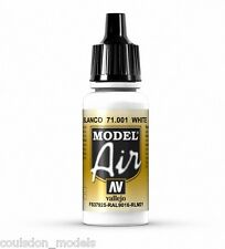 Vallejo Model Air 71.001 White - 17ml Acrylic Airbrush Ready Paint
