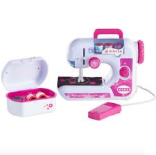 Kids SINGER Starter Sewing Machine Kit Set Girls Carry Handle Foot Pedal Pink