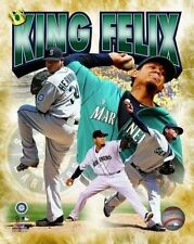 Seattle Mariners 'King' FELIX HERNANDEZ Glossy 8x10 Photo Baseball Poster Print