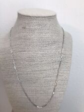 14k White Gold 20 Inch Paperclip Chain Necklace 2 X 6mm