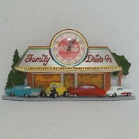 Vintage Coca Cola Clock Family Drive In Burwood Made in USA 3D