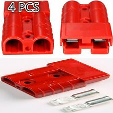 4PCS 50A 8AWG Battery Quick Connector Plug Connect Disconnect Winch Trailer