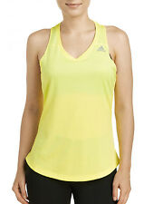 NWT Adidas Women's Sequencials Money Tank Top Large Yellow AA5336