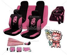 18pc Rosa completo cubierta de asiento Set Dragon Estilo Rosa Lavable Mat + Tuning Kit