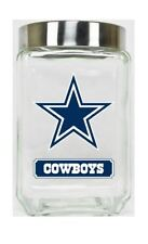 Dallas Cowboys Jar Glass Canister Large Container With Lid Duckhouse NFL