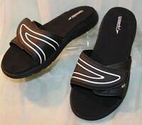 Speedo Womens Slip On Slides Sandals Size 8 Black/White Trim Shoes~NWOP~p3