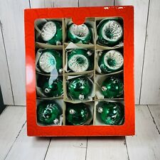 Home for the Holidays 6 Indent 6 Regular  Ornaments w/Box May Dept Green Box 12