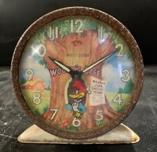 WOODY WOODPECKER WESTCLOX Vintage Mantle Alarm Clock MADE IN GERMANY