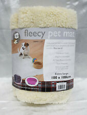 FAUX SHEEPSKIN FLEECE PET MAT BED DOG PUPPY PUPPIES EXTRA LARGE BLANKET
