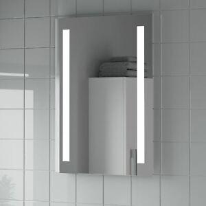 Modern Bathroom Mirror LED Illuminated Rectangular Battery Powered 500 x 700mm