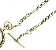 bar link and loop 12� Long Traditional Pocket Watch Chain - Fancy