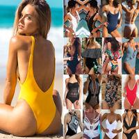 NEW Women's One Piece Swimsuit Push Up Monokini Padded Swimwear Bikini Bathing