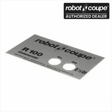 Robot Coupe 400541 R100 Food Processor Front Data Plate Genuine