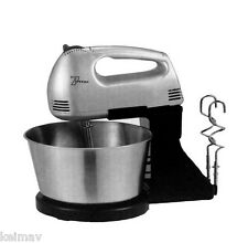 Mixer with Stand and Bowl (Silver)