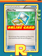 2x Town Map - for Pokemon TCG Online ( DIGITAL ptcgo in Game Card)