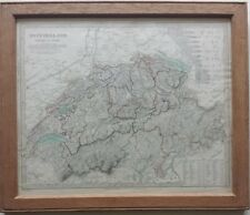 1838 Map of Switzerland (Schweiz La Suisse)
