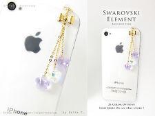 Purple & Aurora Flowers Anti Dust Plug Made with Swarovski Element Crystal