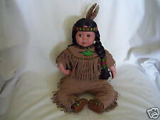 ~~BRAVE & FREE BY PERILLO, INDIAN DOLL~DANBURY MINT~~