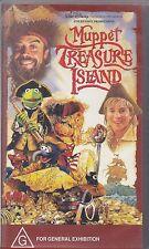 PAL VHS VIDEO TAPE : MUPPET  TREASURE ISLAND, WALT DISNEY & JIM HENSON