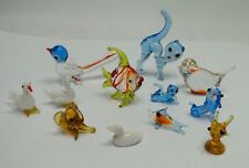 vintage miniature handblown glass animals 12 x