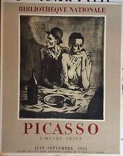 Picasso Affiche Lithographie Paris Mourlot 1955 Bibliothèque Nationnale