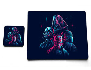 Star Wars Darth Vader Maul Kylo Ren Palpatine Sith Cup Plate Coaster Placemat