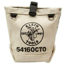 Klein Tools Bull Pin & Bolt Bag Canvas Tool Pouch Tote Belts Toolbox Box Storage