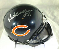 DICK BUTKUS / HALL OF FAME / AUTOGRAPHED CHICAGO BEARS LOGO MINI HELMET / COA