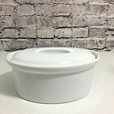 APILCO FRENCH PORCELAIN CERAMIC COVERED BAKING DISH # 5