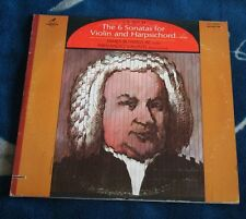 BACH THE 6 SONATAS FOR VIOLIN AND HARPSICHORD US 2LP VANGUARD BUSWELL / VALENTI