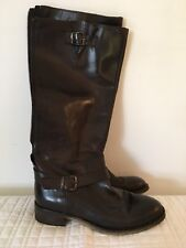 Women's Tall Brown Leather Boots Size 7- Aldo Size 37