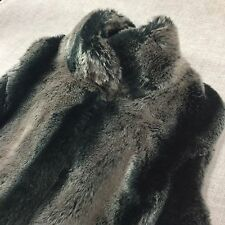 KRISTEN BLAKE WOMEN'S FAUX FUR VEST SIZE Medium M Soft Gray Black