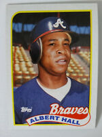 1989 Topps Albert Hall Atlanta Braves Wrong Back Error Baseball Card