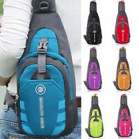 Mens Women Nylon Sling Bag Backpack Crossbody Shoulder Chest Cycle Daily Travel