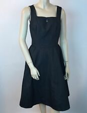 Isaac Mizrahi for Target Dress Summer Black Taffeta Fit and Flare 8 Lined Pinup