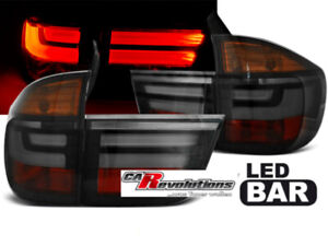 Für BMW X5 E70  03.07-05.10 - LED Rückleuchten in rauchglas smoke