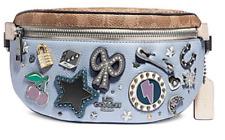 🌺🌹COACH Souvenir Pins Leather Belt Bag 78003 Tan/Mist/Silver Original Pak.