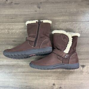 Earth Spirit Womens Brown Velvet Mid Calf Hight Boots Size 11 Faux Fur